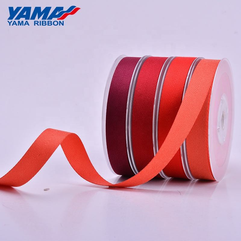 YAMA stocked wholesales fashion style satin grosgrain red ribbon