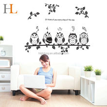 2017 Hot Selling Cartoon Black Wall Decor Sticker