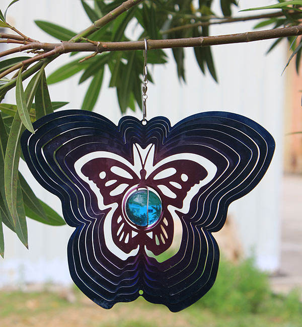 High Quality Stainless Steel Animal Hanging Metal Wind Spinner For Home or Garden Decoration