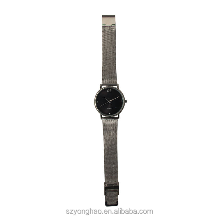 New arrival hot fashion cool charming mesh band alloy watch with customer's logo