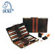 Customized High Quality PVC Leather Backgammon Set