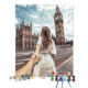 Impression cityscape London Big Ben scenery girl photo customized painting by numbers