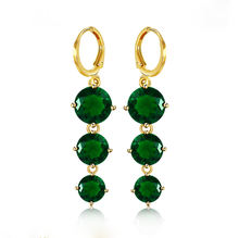 XL2024 xuping new latest gold earring designs high quality gemstone long earring