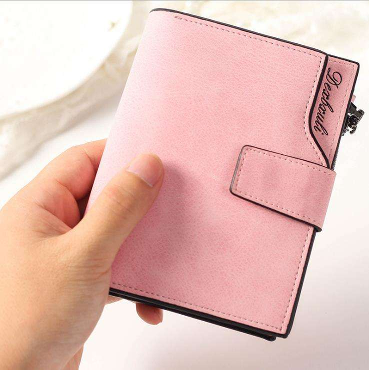 Fashion Top Quality Wallet Leather Purse Femel Money Bag Small Zipper Coin Pocket Women Vintage Small Wallet