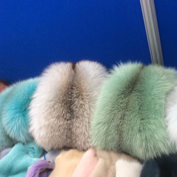 custom order accept dyed color animal fur fox fur pelts wholesale