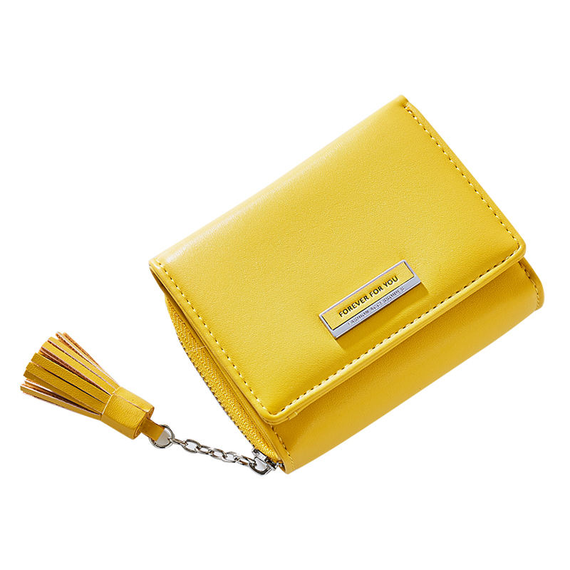 2019 New Arrival Wholesale Candy Color Lady Short Wallet Fashion Brand Cheap Mini Purses