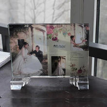 colour printing crystal photo frame for wedding decoration