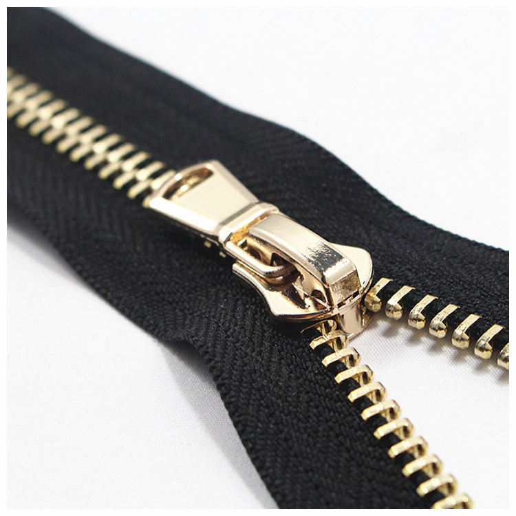 Zipper Factory Direct Supply Wholesale Custom Logo #3#4 #5 #8 Gold Black Close End Metal Bags Zipper For Handbag