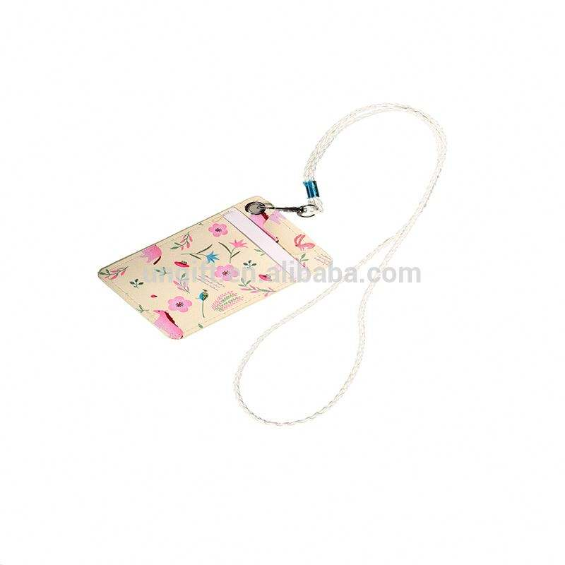 Good Quality Necklaces PU Leather Student ID Card Holder