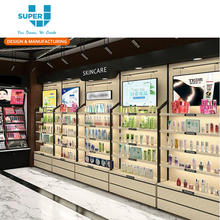 Retail Shop Cosmetic Display Shelves Wall Storage Design Beauty Products Display Cabinets