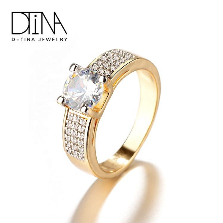 DTINA 2019 Pop Engagement Ring Gold Plated Ring Women's Rings