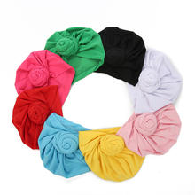 B74 Baby Turban Toddler Kids Boy Girl Cotton Soft Hat Snail Knotted Cap