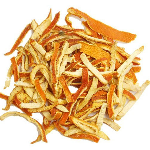 Natural spices orange peel