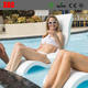 New Design Plastic In-water Deck Chair In-Pool Shallow Rest Lounge Chair Lightweight Seaside Lounge Chaise