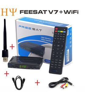 Mini Freesat V7 Dvb-s2 Penerima Satelit 1080P HD Digital DVB-S2 Penerima Satelit/Freesat V7 FTA Set Top Box dukungan M