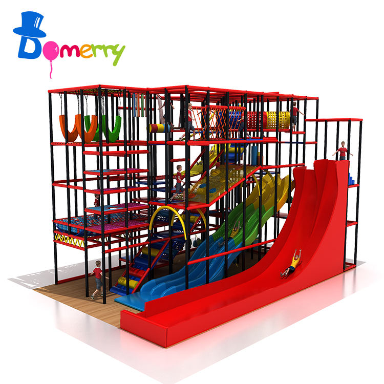 Kids commercial fun park soft play area slide set indoor playground kids game maze