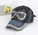 2019 New style diamond cowboy baseball cap brim full diamond manufacturers direct mixed batch hat for women