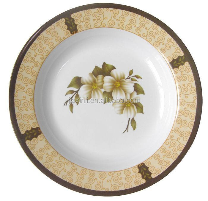 Round 8'' melamine dinner plate homeware daily use pie plate