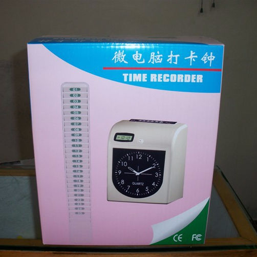 Electronic Punch Card Time Recorder LCD Time Clock Machine