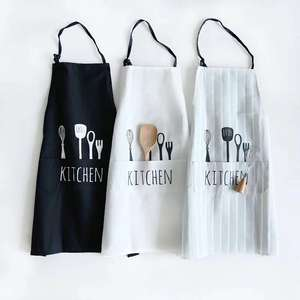 Professional Free Shipping Customized Your Logo Pockets Plain Color Comfortable Unisex Cheap Kitchen Apron