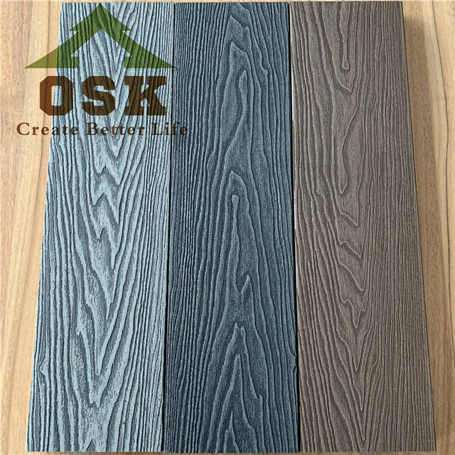 brand new 3D deep embossed wood grain wpc decking board advanced technology wpc flooring outdoor