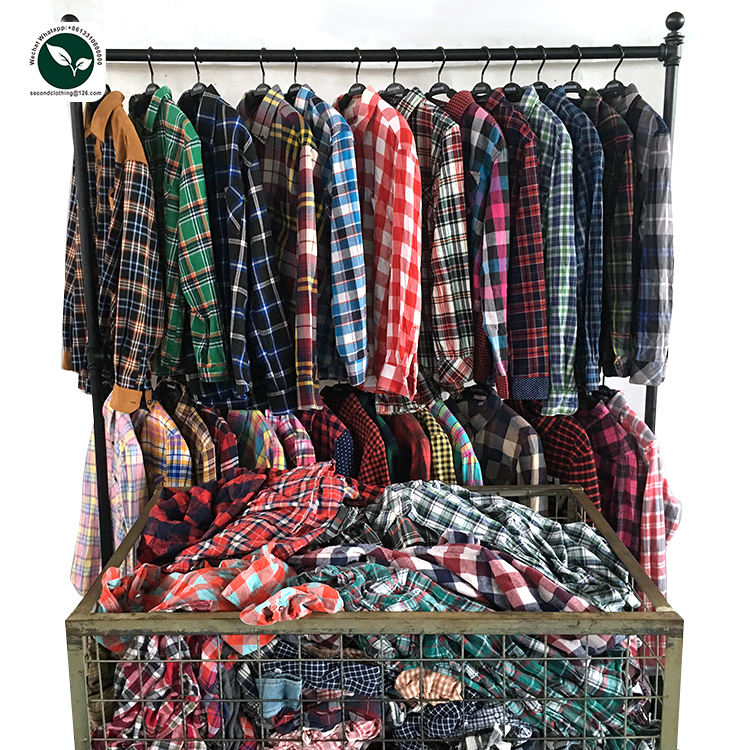 Wholesale second hand men shirt hot sale sorted low price used clothes