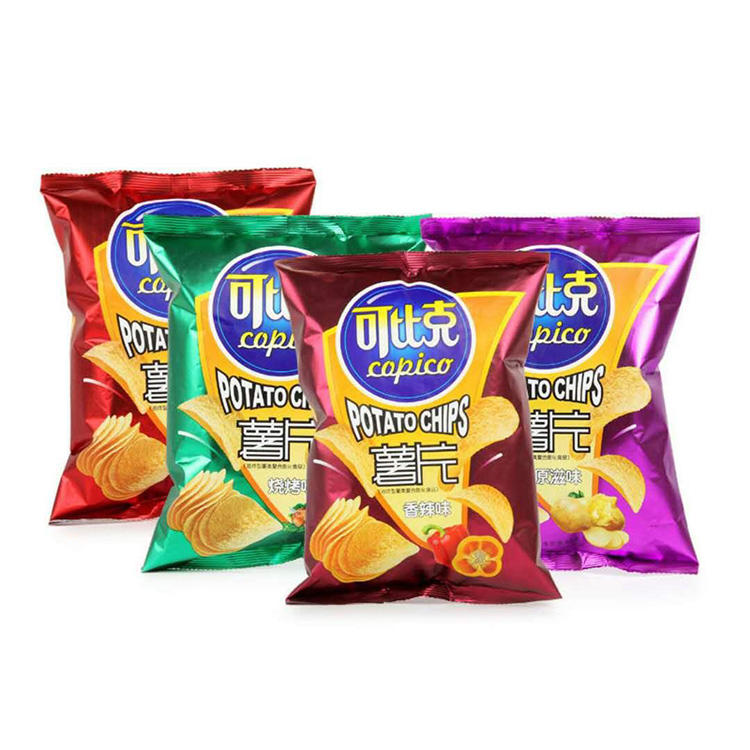 Chinese 7 tastes sancks instant food potato chips 60g