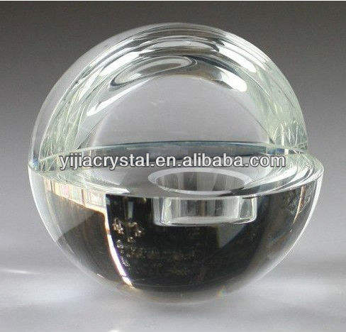 Crystal Ball Shaped Candleholder Cheap Decorative Glass Candlestick
