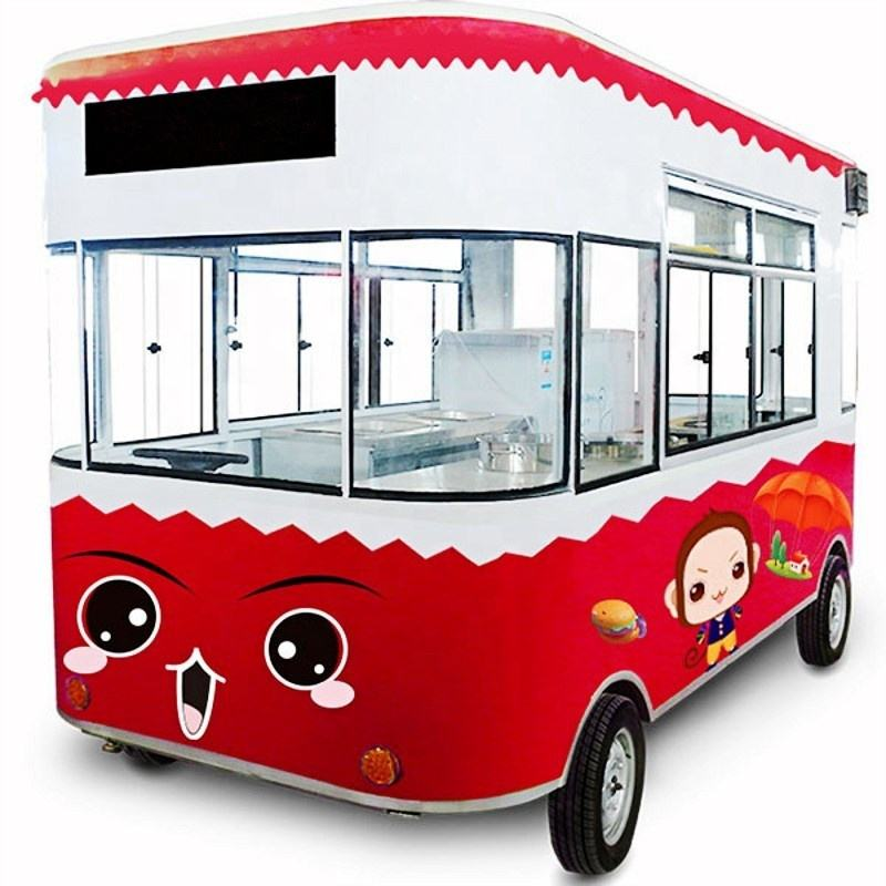 Sales of European 2200w 45km/h electric diners, barbecue food cart and ice cream electric food truck