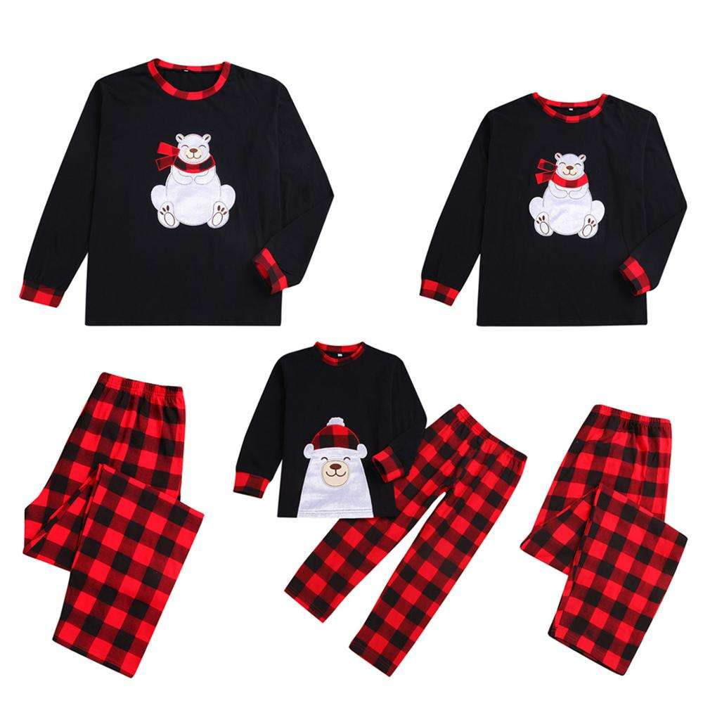 Goods in Stock Fast shipping 3 days to US or Canada No MOQ Unisex christmas family plaid pajamas sets