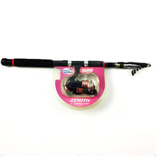China supply telescopic fiber glass  Fishing rod , Reel combo set ,Fresh angler fishing equipment