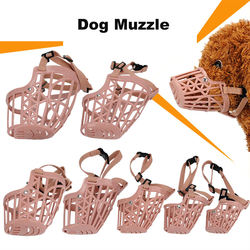 wholesale manufacturer plastic adjustable breathable custom durable indestructible dog muzzle