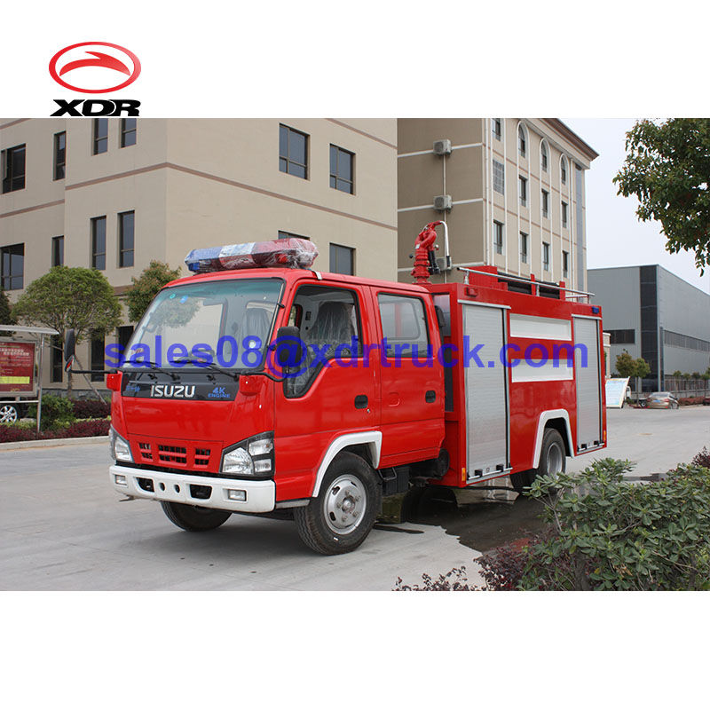 Japan chassis I SU ZU double row 3000L water and 1000L foam fire truck for fire brigade