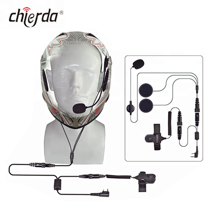 CHIERDA CD-100R Robuste talkie-walkie Moto Casque Casque pour Interphone