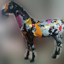 Life Size Horse Customized Colorful Hand-painted Fiberglass Horse Sculpture