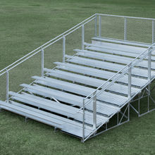 Detachable aluminum grandstands special offer aluminum bleacher fast build steel tribune