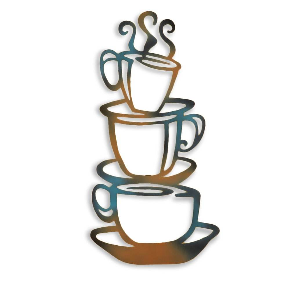 Metal Steaming Coffee Cups Cafe Kitchen Wall Art For Home Decoration Buy Wall Art Metal Wall Art Metal Kitchen Wall Art Home Decoration Product On Alibaba Com