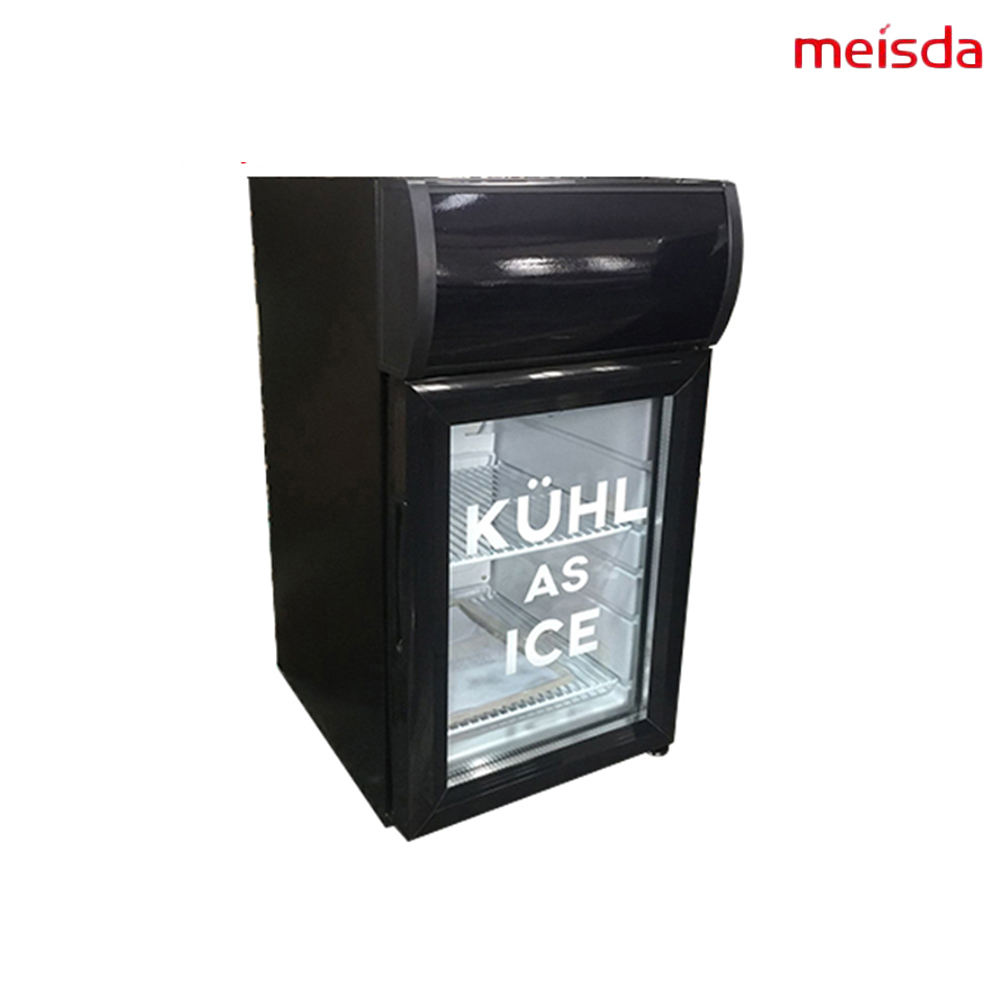 Glass Door Mini Display Cooler pepsi Fridge With LED Light