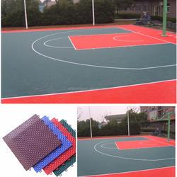 Outdoor interlocking basketball court sports floor pp tile