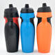 bulk items 600ml clear plastic sports water drink bottle with rubber grip