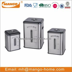 Square Stainless Steel Rice Box