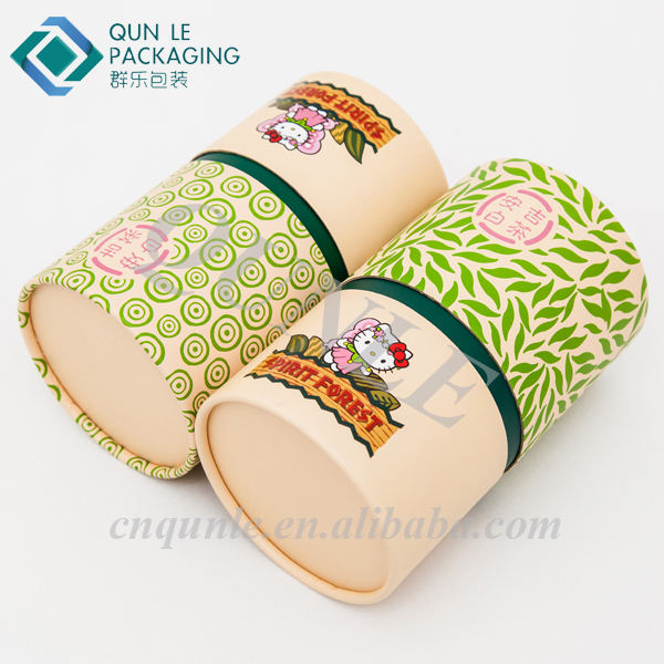 Fancy Cylinder Shape Paper Donut Bakery Powder Packaging Box for Sale