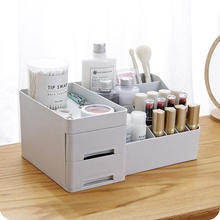 bedroom tabletop plastic make up organizer storage cosmetic container