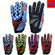colorful sports men woman dirtpaw riding racing bicycle gloves