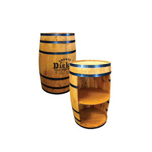 Holz 2 regale runde wein barrel display stand