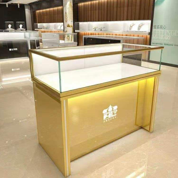 High End Glass Museum Perfume Optical Jewelry Mobile Display Showcase