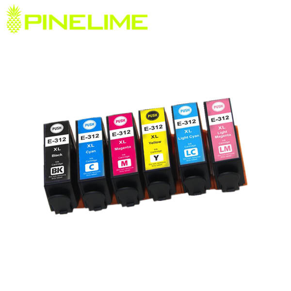 Updated six Color T312XL E312XL Compatible ink cartridge T312XL for Epson Expression Photo XP-8500/HD XP-15000