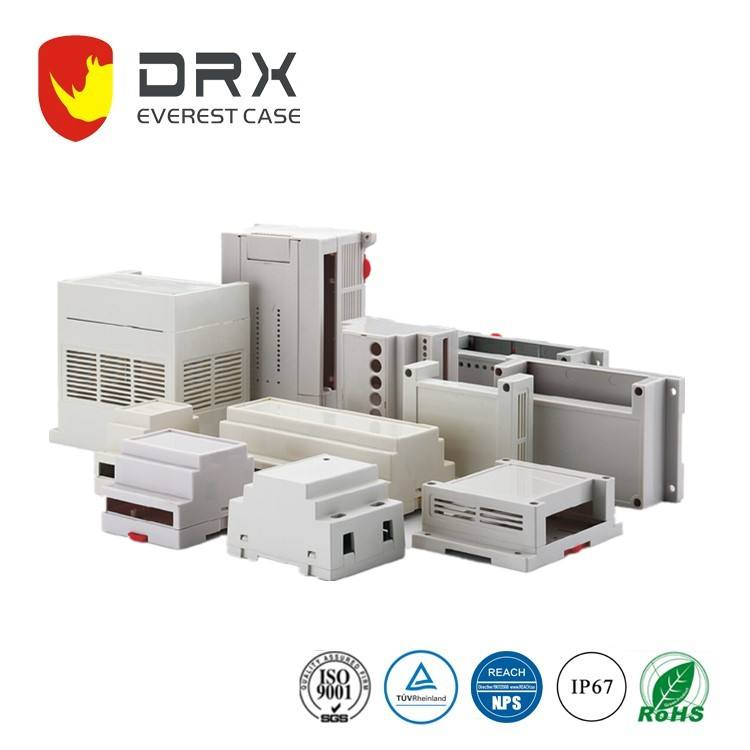 Ningbo EVEREST PLC006 professional manufacturer transmitter mountable plastic Din Rail enclosure