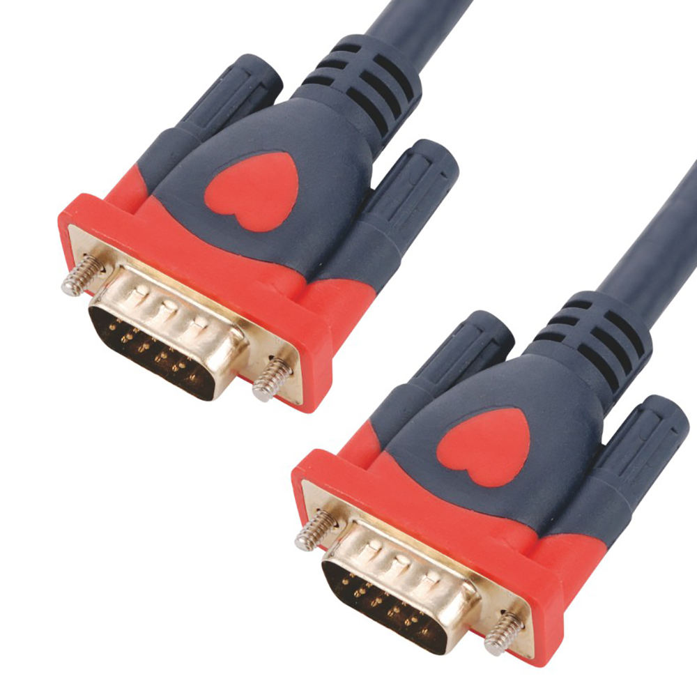 Pvc jacket 20M 15 pin HDB15 male to male extension 3 6 vga cable