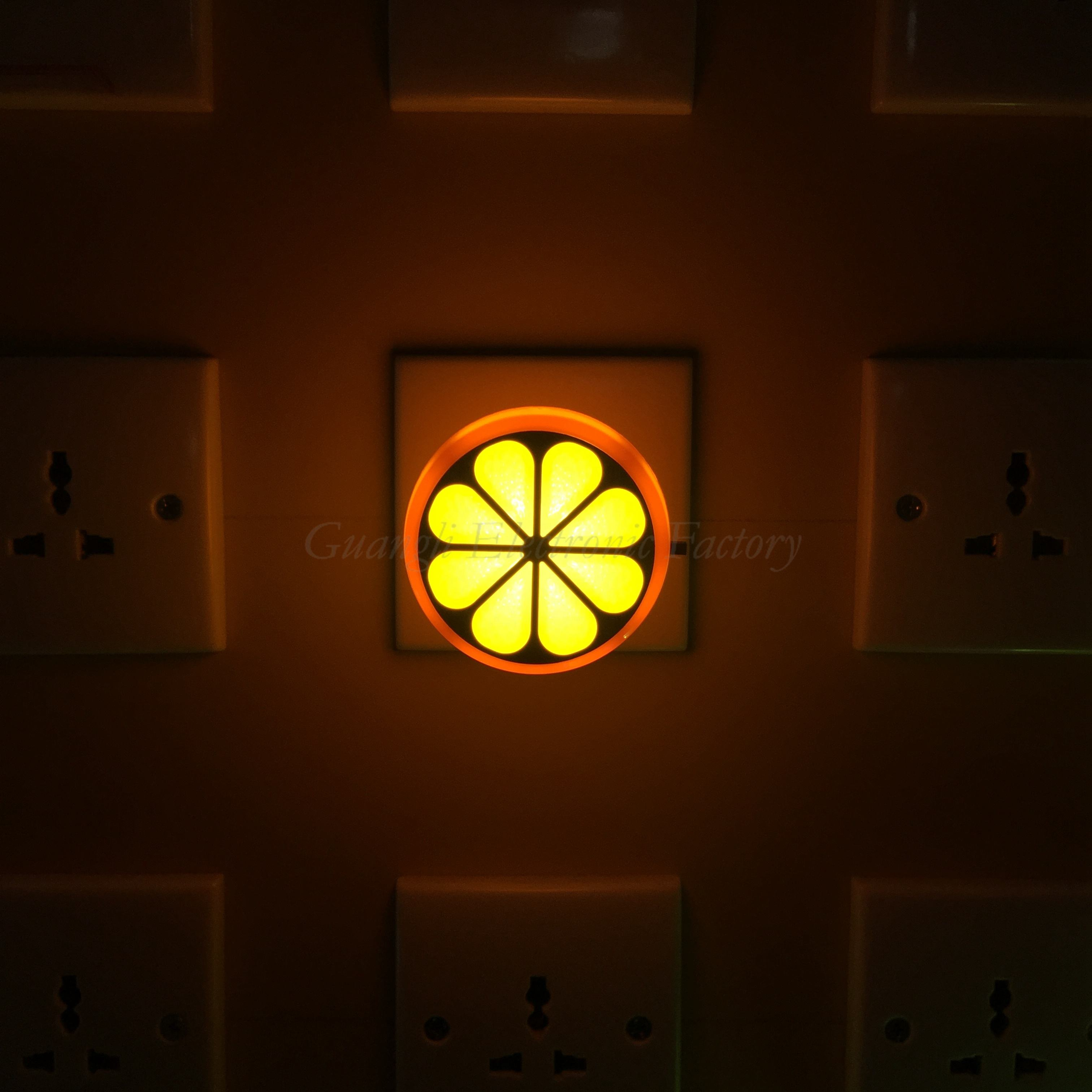 4SMD US EU mini switch plug in Fruits orange Shape night light For Baby Bedroom W083